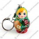 """Nesting Doll Keychain """"Strawberry Meadow"""""""