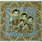 """Decorative Tapestry-Pillow Case """"Nesting Doll"""""""