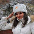 White Soviet Bomber Hat (Ushanka) (L)