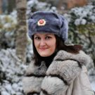 SOVIET MILITARY HAT WITH EAR FLAPS (Ushanka) (GREY)