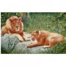 "Decorative Tapestry-Pillow Case ""Lion and Lioness"""