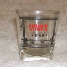 Collectible Bar Shot Glass... LYNNS BAR.... This is a cutie!!  FREE SHIPPING!