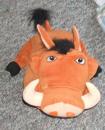 "Disney The Lion King Feed Me Pumbaa #4085 10"" Talks!!"