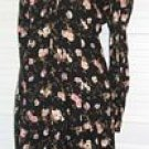 Black Floral Dress Purple Cream D.B.Y. Ltd Size 7 Rayon... FREE SHIPPING!