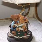 "Story Bears Hand Painted 11"" Ceramic Lamp NWT"
