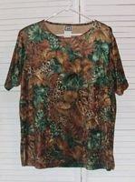 Velour Jungle Print T Shirt Tropical My Pieces Size L Large...