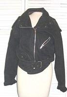 Black Denim Jacket by Whipp Goldrush Size Large