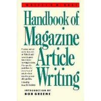Writers Digest Handbook of Magazine Article Writing... Hardcover Edition 1988