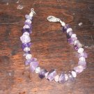 "7"" Amethyst Bracelet Smooth Stones Lobster Claw"