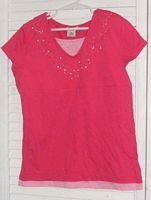 Pink Cotton T Shirt by Cherokee Size 10 / 12