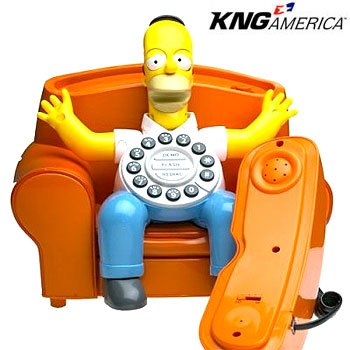 Homer Simpson Animated Collectible Phone by King America