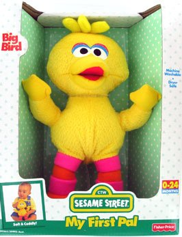 Stuffed Plush Sesame Street BIG BIRD by Fisher Price
