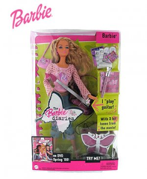 Barbie Diaries Musical Movie Doll w/ Guitar by Mattel... Plays 3 Songs!!