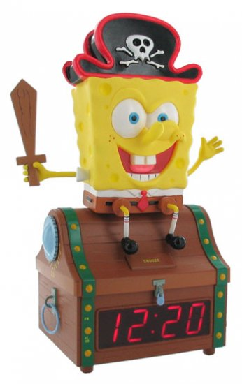 Spongebob Treasure Chest Clock & Radio From Nickelodeon