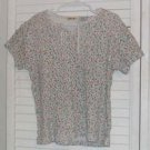 Floral Ribknit Cotton Shirt by Cherokee Sz 10 / 12