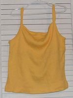 Yellow Cotton Ribknit Tank by Green Dog Size 14