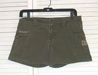 Military Green Cotton Shorts by l.e.i. Size 5