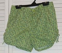 Lime Green Floral Shorts No Boundaries Sz 14