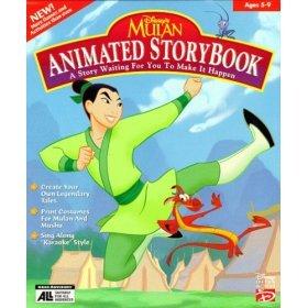 Disney's Mulan Animated Storybook CD Software Game