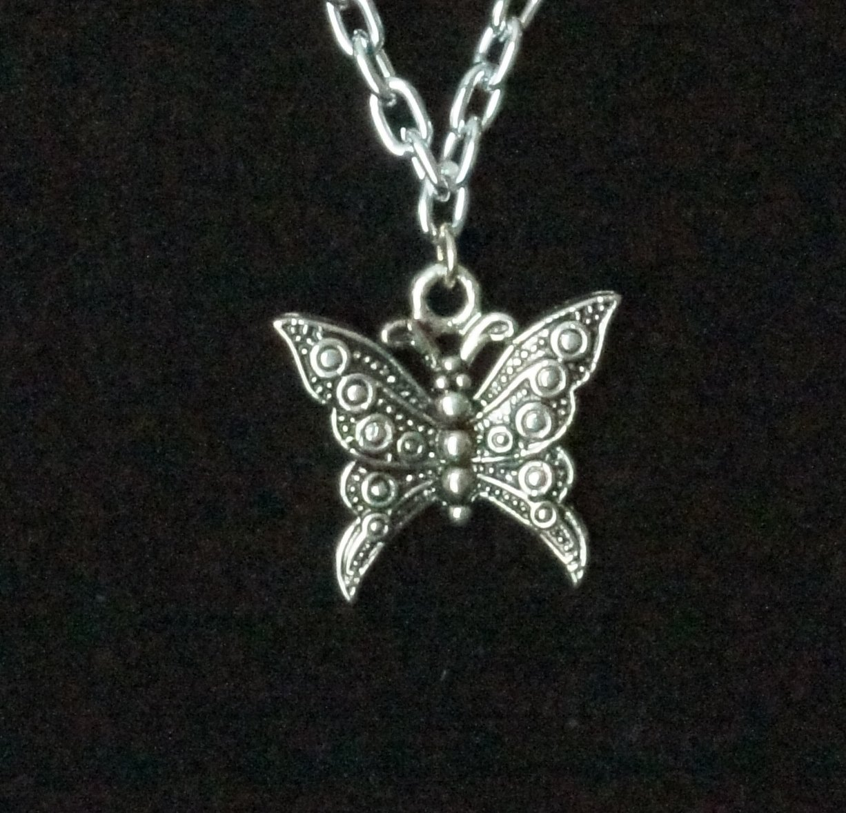 Simplicity Necklace- Butterfly with Pink Shell