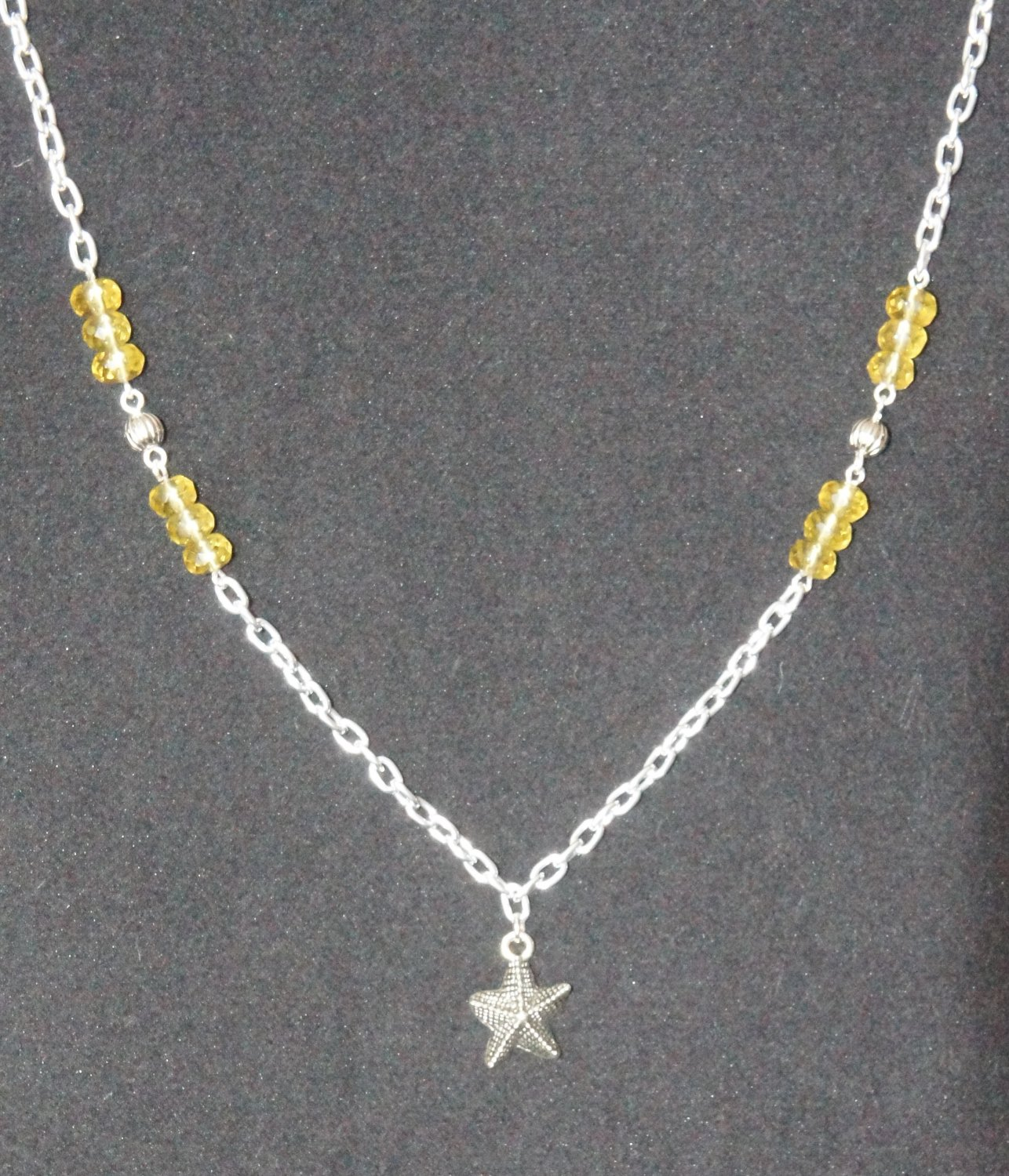 Simplicity Necklace- Starfish with Yellow and Silver