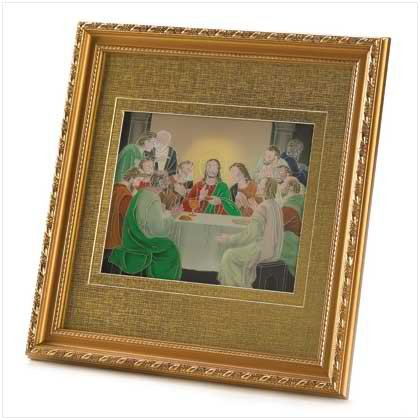 Lighted Last Supper Plaque
