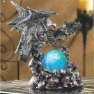 Armored Dragon With Light Up Globe