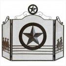 Lonestar Fireplace Screen