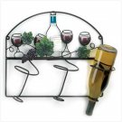 Grapevine Bistro Wall Wine Bottle Holder