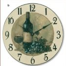 Wine & Grapes Wall Clock