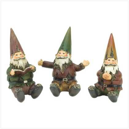 Mini Gnome Garden Trio