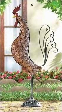 Metal Rooster Sculpture