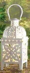 White Medallion Lantern