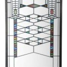 FRANK LLOYD WRIGHT FREDERICK C. ROBIE HOUSE 1908 STAINED ART GLASS PANEL DISPLAY