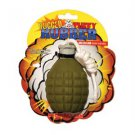 TUFFY'S RUGGED RUBBER NOVELTY DOG FETCH TOY GRENADE SHAPED - XS SIZE WW SHIP