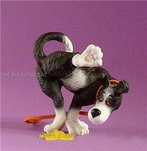RUFUS, NOT  HERE! Humorous Dog Going Potty Statue Figurine by Ed Van Roswalen