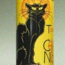 LE CHAT NOIR BLACK CAT CERAMIC CYLINDER MUSEUM VASE ARTIST STEINLEN