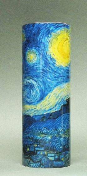 Van Gogh Starry Night Ceramic Cylinder Museum Vase Dutch