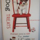 Puppy Dog on Red Chair - Cotton Flour Sack Towel with Dog Treat Biscuit Recipe