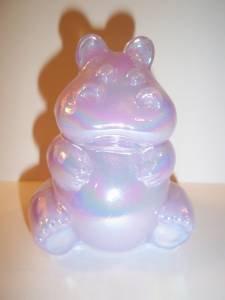 Fenton Glass LAVENDER IRIDIZED CARNIVAL HIPPO Hippopotamus Figurine