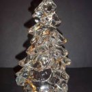 "Mosser Glass CLEAR CRYSTAL 5.5"" CHRISTMAS TREE Figurine Holiday Decoration New!"
