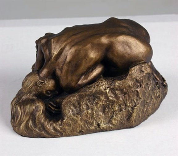 La Danaide Reclining Female Nude Statue Sculpture Auguste Rodin Bronze Finish