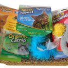 HAPPY KITTEN CAT STARTER KIT with SCRATCHING PAD POST, CAT NIP, TOYS, OAT GRASS NEW