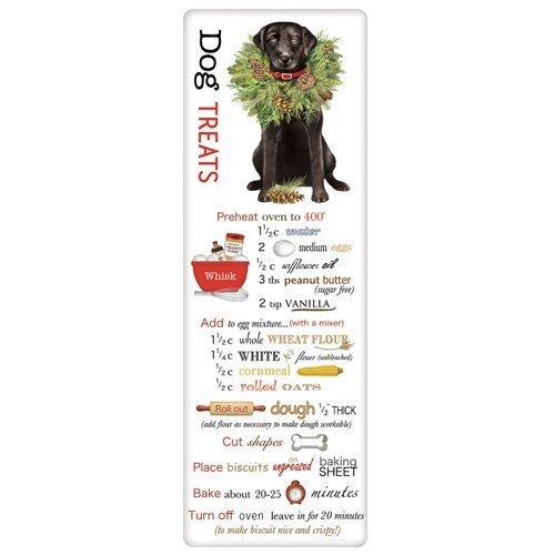 Labrador Christmas Wreath Dog Flour Sack Towel with Dog Treat Biscuit Recipe
