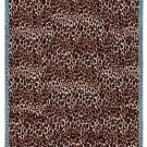 "CHEETAH ""SKIN"" PRINT CAT KITTEN TAPESTRY AFGHAN THROW BLANKET USA MADE! 53"" x 70"""