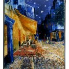 "VAN GOGH ""CAFE TERRACE AT NIGHT"" STAINED GLASS ART WINDOW PANEL HANGING DISPLAY"