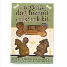 LARGE ORGANIC DOG BISCUIT COOKBOOK KIT WITH COOKIE CUTTERS PAPERBACK TREAT GIFT!