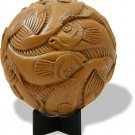 Fish Tessellation Sphere by M.C. Escher Replica Statue Figure Dutch Art