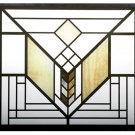 Frank Lloyd Wright LAKE GENEVA HOTEL TULIP Stained Art Glass Panel Display