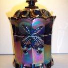 Mosser Glass AMETHYST PURPLE CARNIVAL CHERRY Pattern TOBACCO COOKIE CRACKER JAR